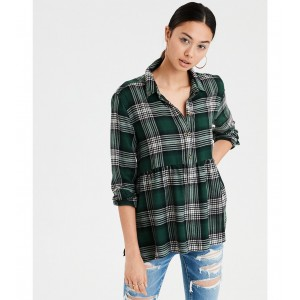 AE Ahhmazingly Soft Plaid Popover Babydoll Top