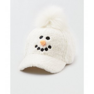 AEO Snowman Plush Earflap Cap