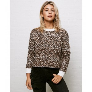 Don't Ask Why Cropped Crew Neck Sweatshirt