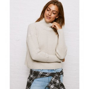 Don't Ask Why Cropped Turtleneck Sweater