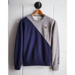 Tailgate Men's Notre Dame Diagonal Colorblock Sweatshirt