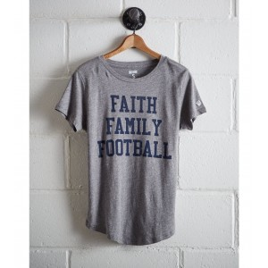 Tailgate Women's Faith Family Football T-Shirt