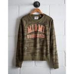 Tailgate Women's Miami Camo Fleece Sweatshirt