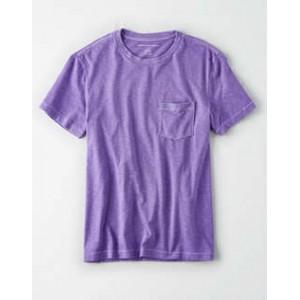 AE Garment Dyed Heather Pocket T-Shirt