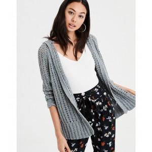 AE Hooded Cardigan Sweater