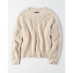 AE Shaker Eyelet Pullover Sweater