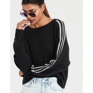 AE Slouchy Arm Stripe Pullover