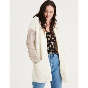 AE Colorblock Shawl Collar Cardigan Sweater