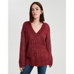 AE Ribbed V-Neck Pullover Sweater