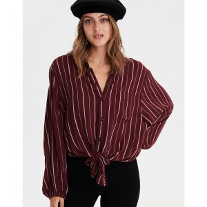 AE Long Sleeve Tie Front Top