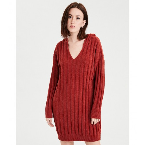 아메리칸 이글 AE Ribbed Hooded Sweater Dress