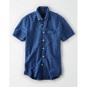 AE Striped Poplin Button-Down Shirt
