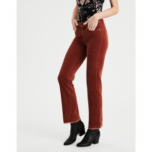 High-Waisted Crop Flare Corduroy Pant