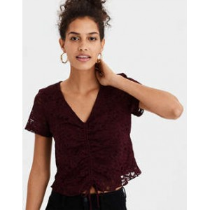 AE Cinch Front Lace T-Shirt