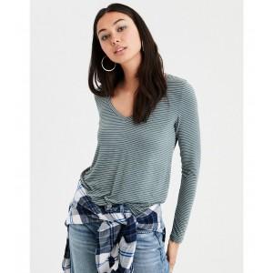 AE Soft & Sexy Long Sleeve V-Neck T-Shirt