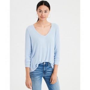 AE Soft & Sexy Ribbed Long Sleeve V-Neck T-Shirt