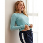 Aerie Real Soft Ribbed Long Sleeve Tee