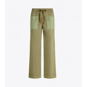 CROPPED TWILL PANT