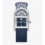 THAYER WATCH, NAVY LEATHER/STAINLESS STEEL, 25 x 39 MM