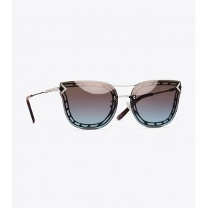OPEN-WIRE CAT-EYE SUNGLASSES