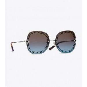 OPEN-WIRE SQUARE SUNGLASSES