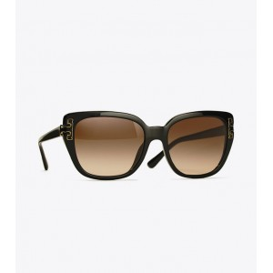 T-TEMPLE CAT-EYE SUNGLASSES