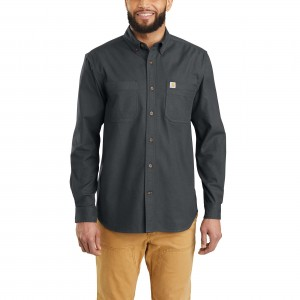 Rugged Flex Hamilton Flannel Solid Long-Sleeve Shirt