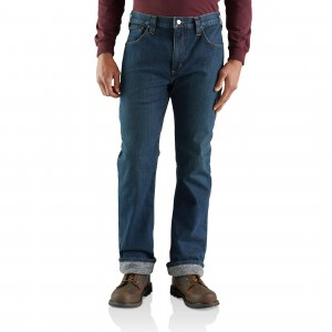 Rugged Flex Relaxed Straight Jean Knit-Lined