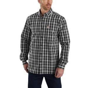 Essential Plaid Button Down Long-Sleeve Shirt