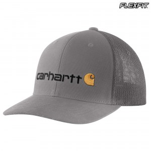 Rugged Flex Canvas Mesh-Back Fitted Logo Graphic Cap