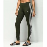 adidas 3 Stripe Olive Leggings
