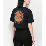 Obey Spoonie Jess Black Crop T-Shirt