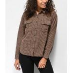 Vans Glen Junction Brown & Blue Plaid Flannel Shirt