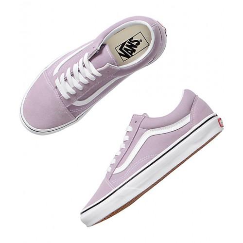 반스 Vans Old Skool Sea Fog & True White Skate Shoes