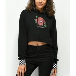 Vans Rose Black Crop Hoodie