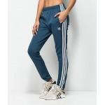 adidas 3 Stripe Blue Track Pants