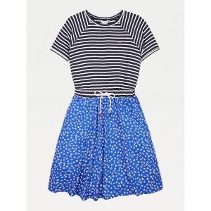 TH Kids Flower Stripe Print Dress