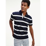 Regular Fit Monogram Stripe Polo