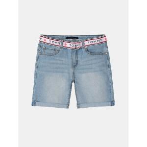TH Kids Belted Denim Short