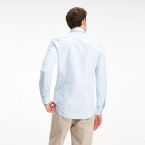 타미힐피거 Cotton Linen Stripe Dress Shirt