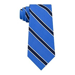 Mens Preppy Stripe Silk Tie