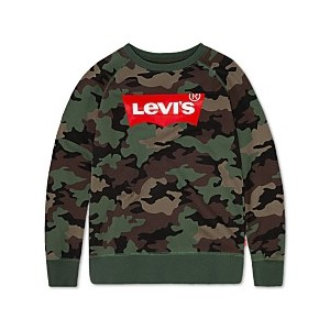 Big Boys Camo-Print Fleece Pullover Sweatshirt