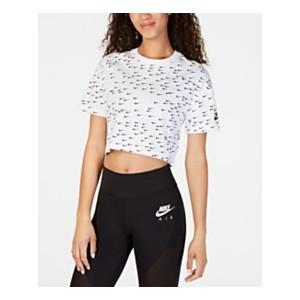Sportswear Cotton Logo-Print Cropped Top