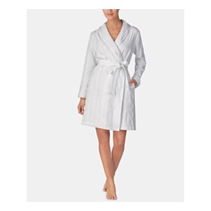 Terry-Lined Woven Cotton Robe