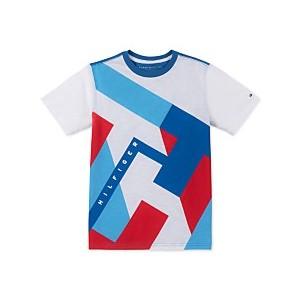 Big Boys Abstract Textured Logo T-Shirt