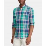 Mens Custom Fit Plaid Shirt