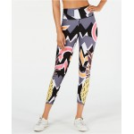 Pineapple-Print High-Waist Leggings