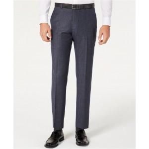 Mens Modern-Fit THFlex Stretch Blue Plaid Suit Separate Pants