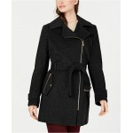 Petite Asymmetrical Belted Coat, Created for Macys