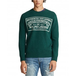 Mens Polo Country Wool Sweater